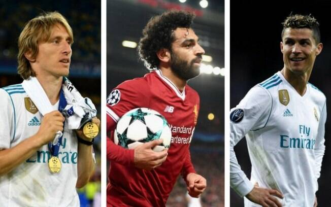 The three participants in the UEFA Player of the Year award