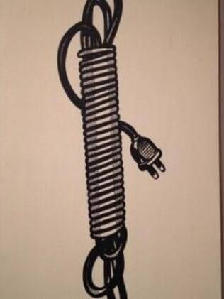 A pintura 'Electric Cord', de Roy Lichtenstein