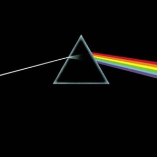 Capa do disco 'The Dark Side of the Moon', do Pink Floyd