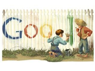 Homenagem do Google a Mark Twain