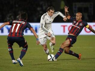 Gareth Bale, do Real Madrid, diante do San Lorenzo, na final do Mundial de Clubes da Fifa