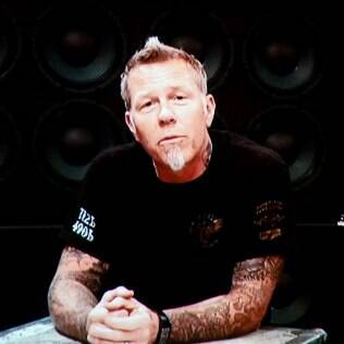 O vocalista James Hetfield, do Metallica