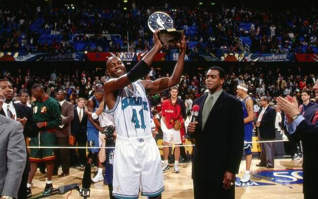 Glen Rice: ala, que defendia o Charlotte Hornets na época, foi o MVP do All-Star Game de 1997