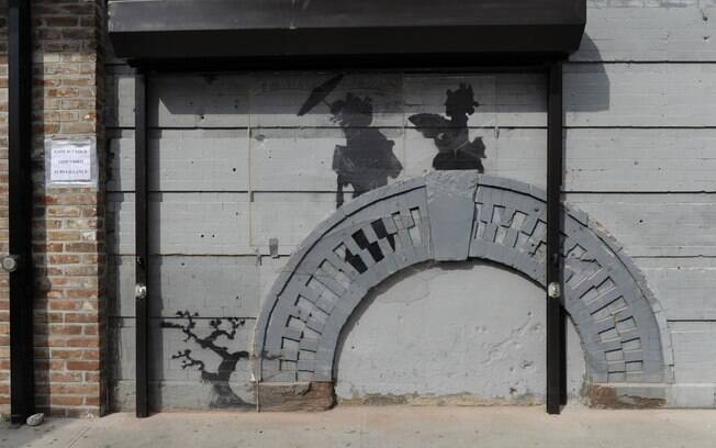 Grafite de Banksy no Brooklyn