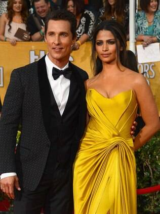 Matthew McConaughey e Camila Alves no Screen Actors Guild Awards 2014