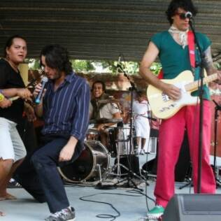 A banda The Playboys no festival Rock na Tamarineira