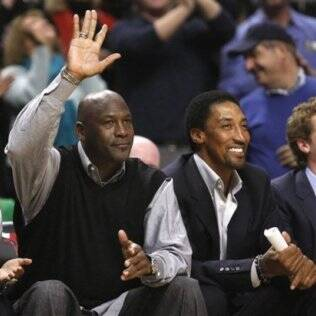 Jordan e Pippen juntos no United Center