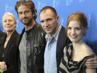 Vanessa Redgrave, Gerard Butler, Ralph Fiennes e Jessica Chastain na capital alemã