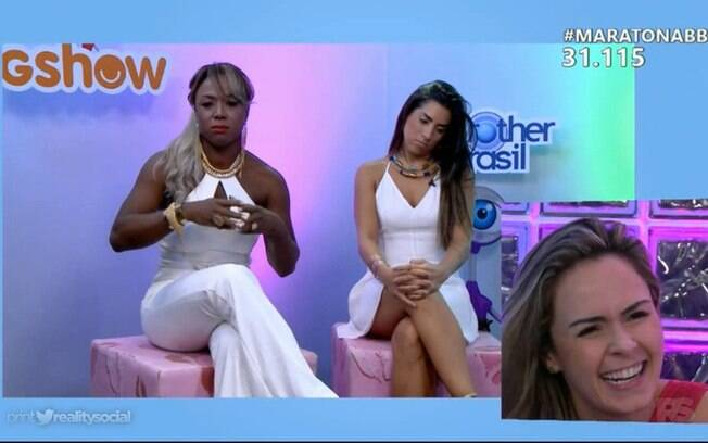 Juliana e Adélia no Maratona BBB