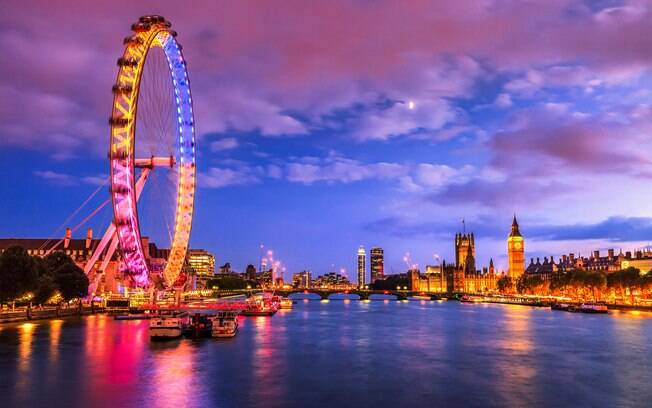 London Eye durante a noite