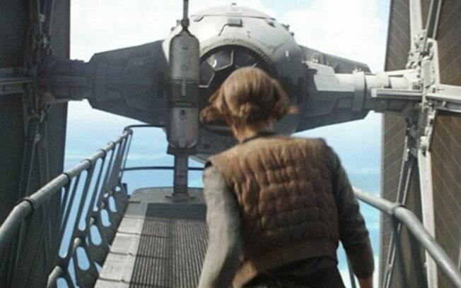 Jyn Erso e o TIE Fighter