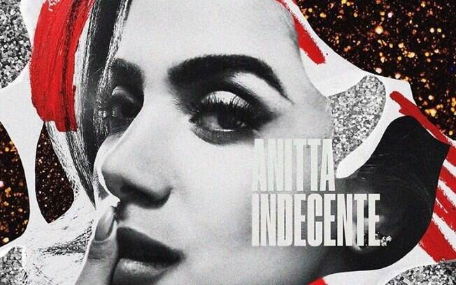 Capa do novo single de Anitta, Indecente