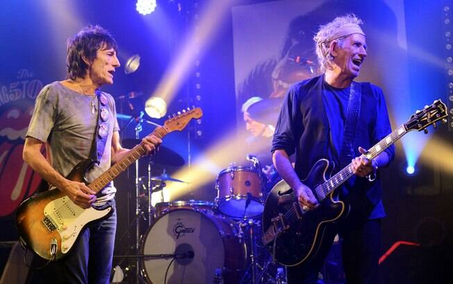 Ron Wood e Keith Richards, do Rolling Stones