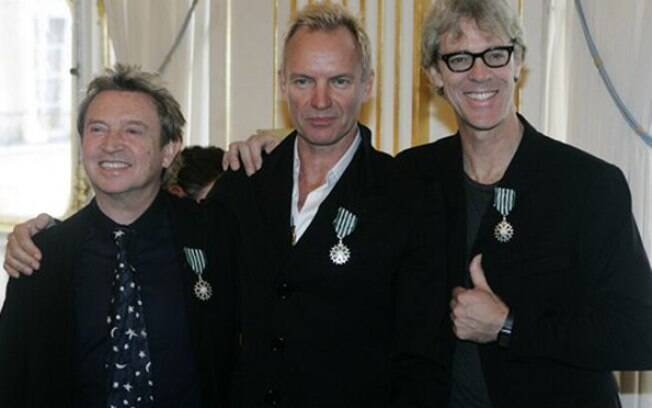 The Police, banda formada em 1977, dona dos hits como Every Breath You Take e Roxanne