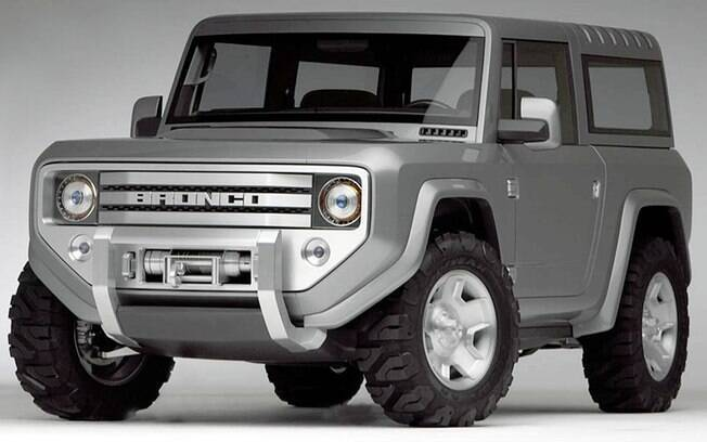 Protótipo do Ford Bronco, prateado