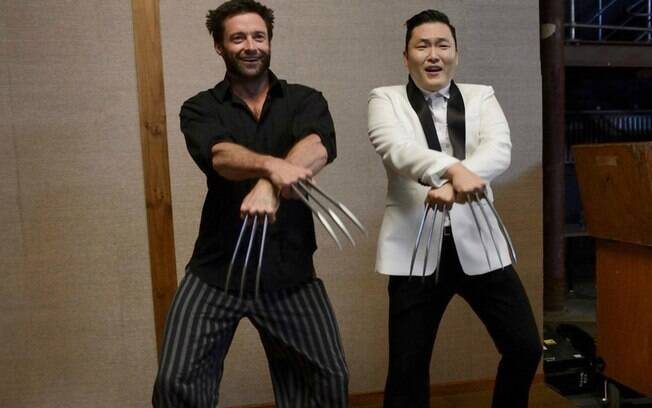Hugh Jackman dançou o hit chiclete