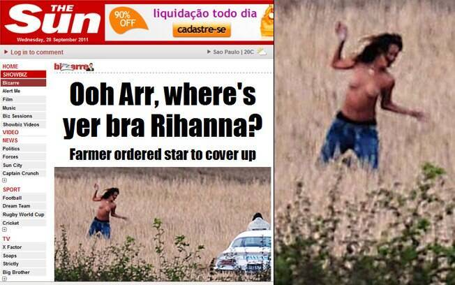 Rihanna faz topless e é advertida