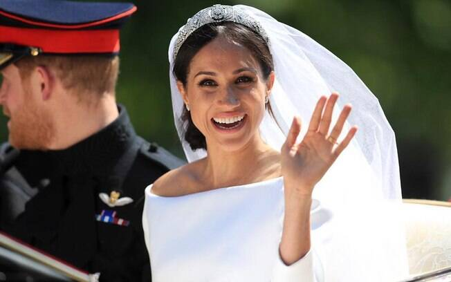 Meghan Markle no dia do casamento com Harry
