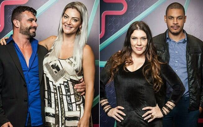 Laura Keller e Simony disputaram a final do Power Couple com seus maridos