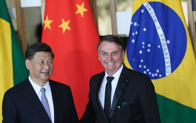 presidente da china e bolsonaro
