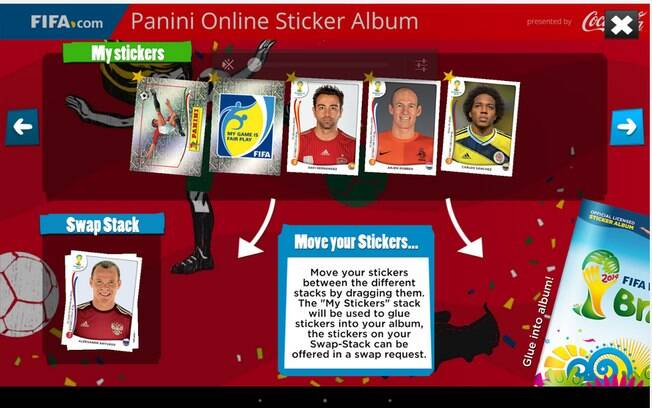 Panini Online Sticker Album é integrado á versão web do álbum da Copa 2014