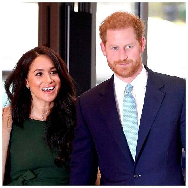 Meghan Markle ao lado do marido%2C Príncipe Harry