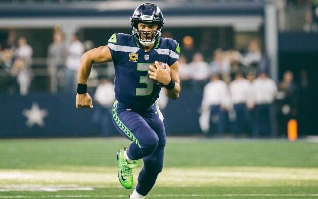 Russell Wilson em campo