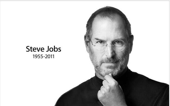 Foto de Steve Jobs colocada no site da Apple