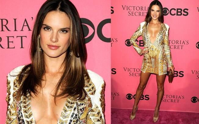 Alessandra Ambrosio no evento da Victoria's Secret
