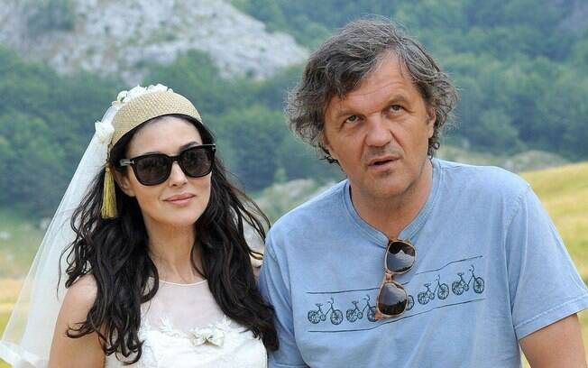 Monica Bellucci no set do filme