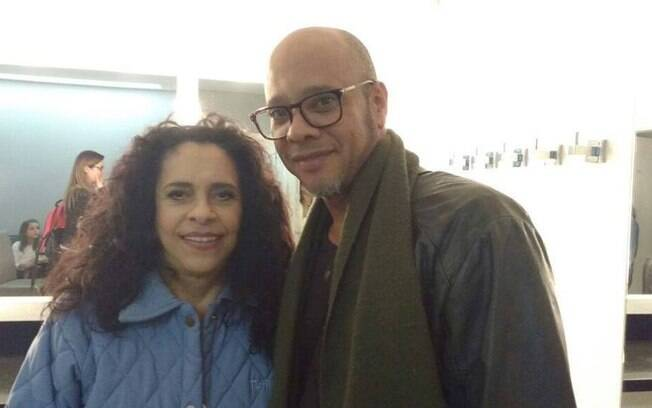 Vander Lee no camarim com Gal Costa