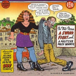 Aline e Robert Crumb na capa da Self-Loathing Comics